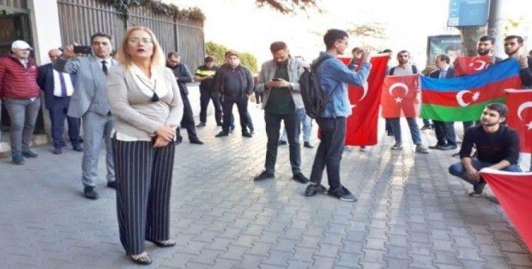 Gürcistanlı öğrencilerden  'Barış Pınarı Harekatı' destek