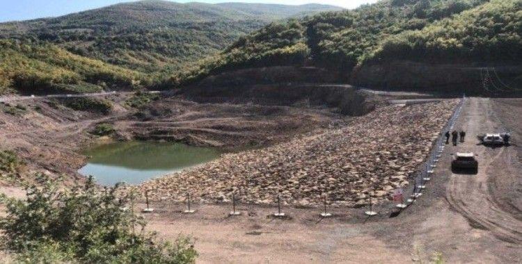 Kumluca Sulama Göleti'nin inşası tamamlandı