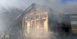 Malkara'da baraka yangını