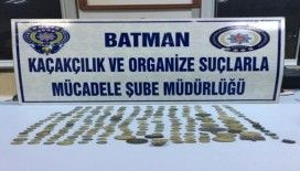 Batman'da 236 adet tarihi sikke ele geçirildi