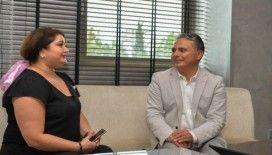 Başkan Uysal, kanseri yenen Sayyaf'la bir araya geldi