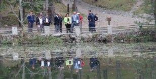 Kaymakam Pişkin, Dipsizgöl Tabiat Parkı'nda incelemelerde bulundu