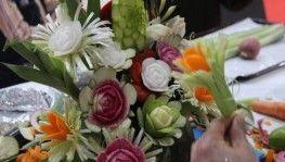 Sebze ve meyve dekorları meraklı gözlerin ilgi odağı oldu