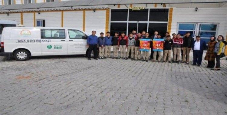 İl Tarım ve Orman Müdürlüğü'nden öğrencilere Süt Ürünleri İşletmesi'ne teknik gezi