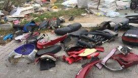 Çaldıkları motosikletleri parçalara ayıran hırsızlar yakalandı