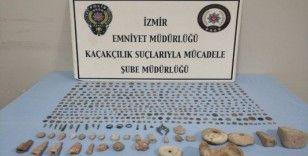 İzmir'de 496 adet tarihi eser ele geçirildi