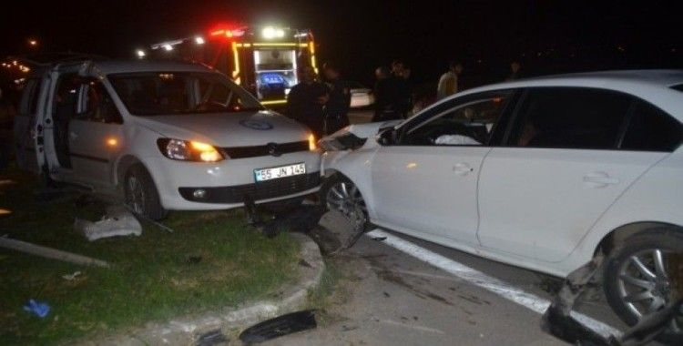 Bafra'da trafik kazası: 7 yaralı