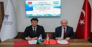 KBÜ ile Özbekistan Fergana Devlet Üniversitesi arasında iş birliği