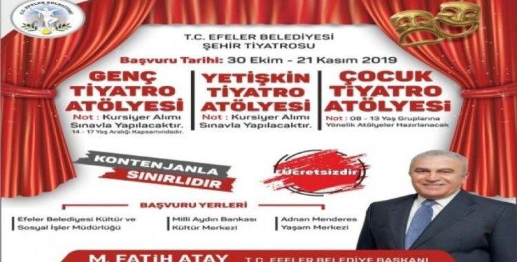 Efeler Belediyesi Şehir Tiyatrosu kuruldu