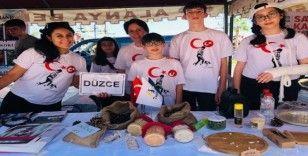Düzce'nin tatlarını ve kokularını Antalya'da tanıttılar