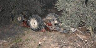 Karacasu'da traktör kazası:  2 yaralı