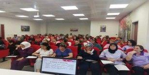 Finike Devlet Hastanesi çalışanlarına İş Sağlığı ve Güvenliği eğitimi