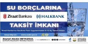 Şanlıurfa'da su borcu olanlara taksit imkanı