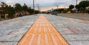 Bitlis'te 'engelli dostu modern kaldırım' dönemi