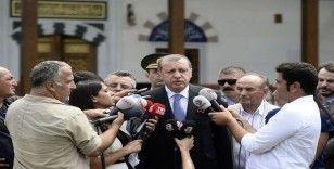 Cumhurbaşkanı Erdoğan cuma namazını Kerem Aydınlar Cami'inde kıldı