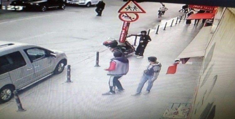 Elektrikli motosiklet çalan şüpheli çocuk yakalandı