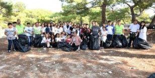 Çocuklardan çevre temizliği