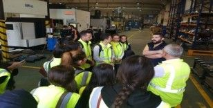 OMÜ'nün uluslararası öğrencileri otomotiv fabrikasında