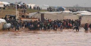 İdlib'de sel felaketi