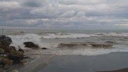Karadeniz kabardı, dalgalar sahili kapladı