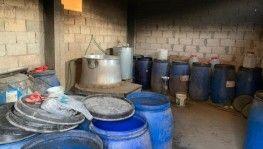 Adana'da 4 bin litre kaçak içki ele geçirildi