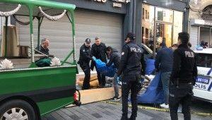 İstiklal Caddesi işçinin feci ölümü kamerada