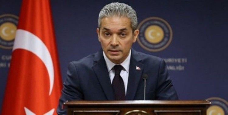 Dışişleri Sözcüsü Aksoy'dan ABD'nin terörizm raporuna ilişkin açıklama