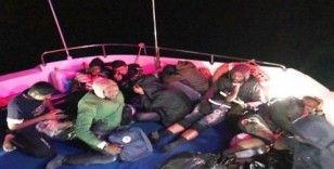 Bodrum açıklarında 18 düzensiz göçmen yakalandı