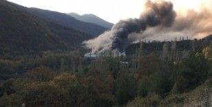 Uludağ eteklerindeki fabrikada çıkan yangın tamamen söndürüldü