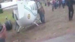 Bolivya Devlet Başkanını taşıyan helikopter acil iniş yaptı
