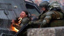 Şili'de polisler diri diri yandı
