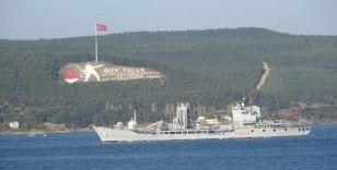 Çanakkale Boğazı'ndan peş peşe NATO gemileri geçti