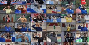 Sporculardan Mehmetçik'e 81 ilden asker selamı