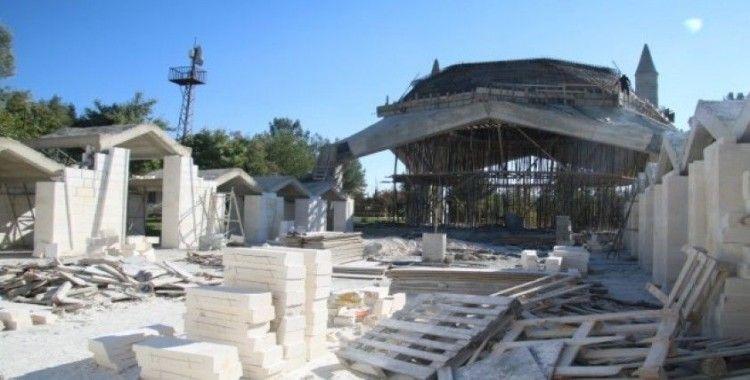 Hilvan'da ilçe kütüphanesi inşaatı sürüyor