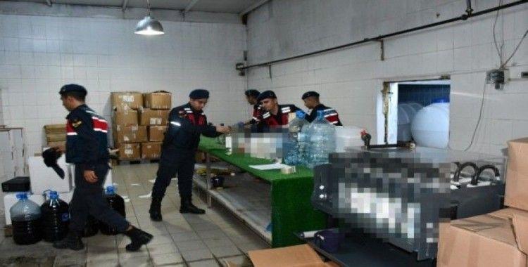 Süt fabrikasını kaçak içki fabrikasına çevirmişler