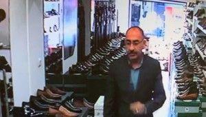 Fatih'te ayakkabı mağazasında hırsızlık kamerada