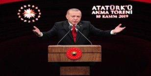 """Cumhurbaşkanı Erdoğan: """"Ülkemizde yıllardır en büyük ticaret Atatürk ve Cumhuriyet ticaretidir"""" (1)"""