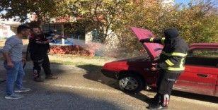 Türkeli'de otomobil yangını
