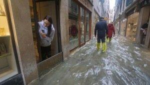 Şiddetli yağışlar Venedik'i vurdu