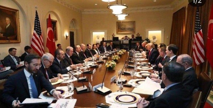 Erdoğan ile Trump, heyetler arası çalışma yemeğinde