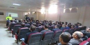 Sason'da okul servis şoförlerine eğitim