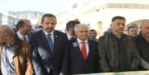 Binali Yıldırım Çankırı'da cenaze törenine katıldı
