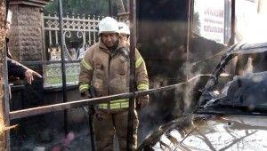 Kadıköy'de korkutan patlama anı kamerada