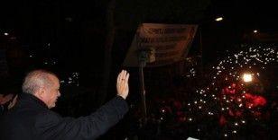 Cumhurbaşkanı Erdoğan Kiraz'da konuştu
