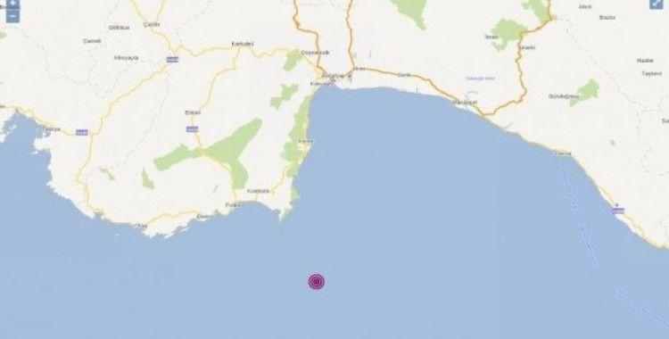 Akdeniz açıklarında 3.5 büyüklüğünde deprem