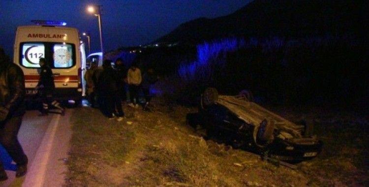 Samandağ'da otomobil, tarlaya uçarak takla attı: 1 yaralı