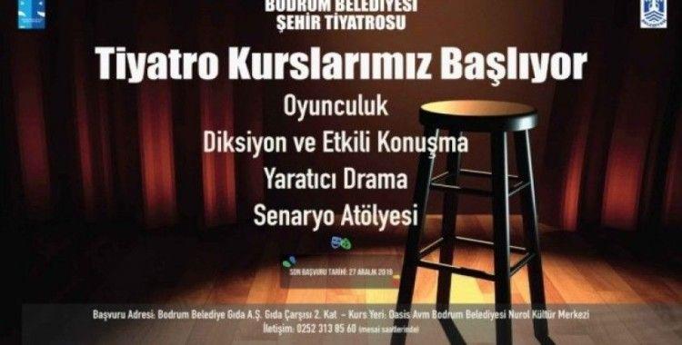 Bodrum Belediyesi Şehir Tiyatrosu kursları başlıyor