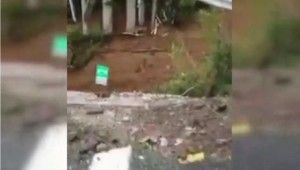 İtalya'da şiddetli yağışlar nedeniyle viyadük çöktü