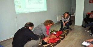 Kütahya AFAD ve PTT personeline ilk yardım eğitimi
