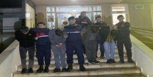Jandarmanın özel ekip kurarak yakaladığı 4 şüpheli tutuklandı